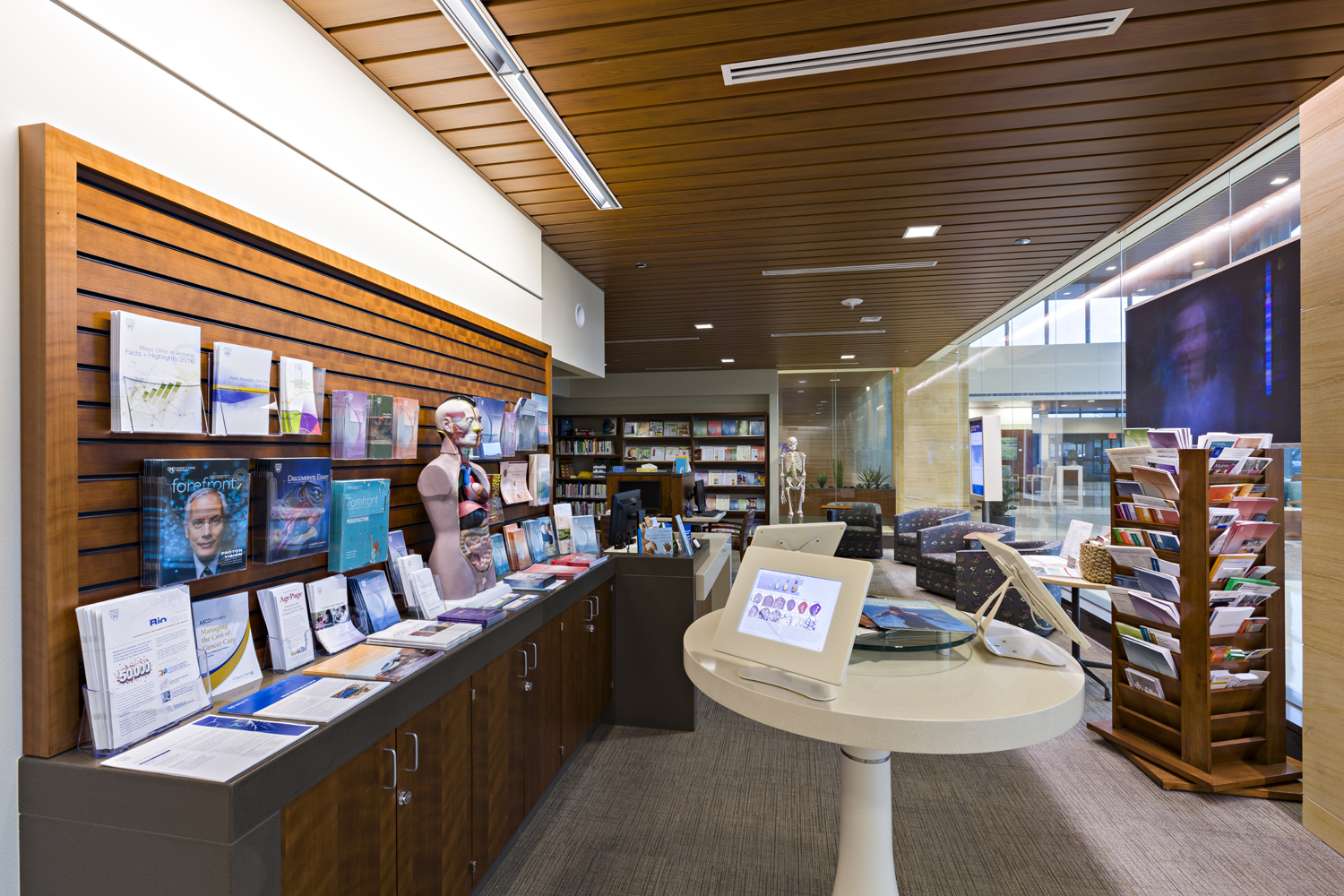 Interior of Phoenix Patient Library