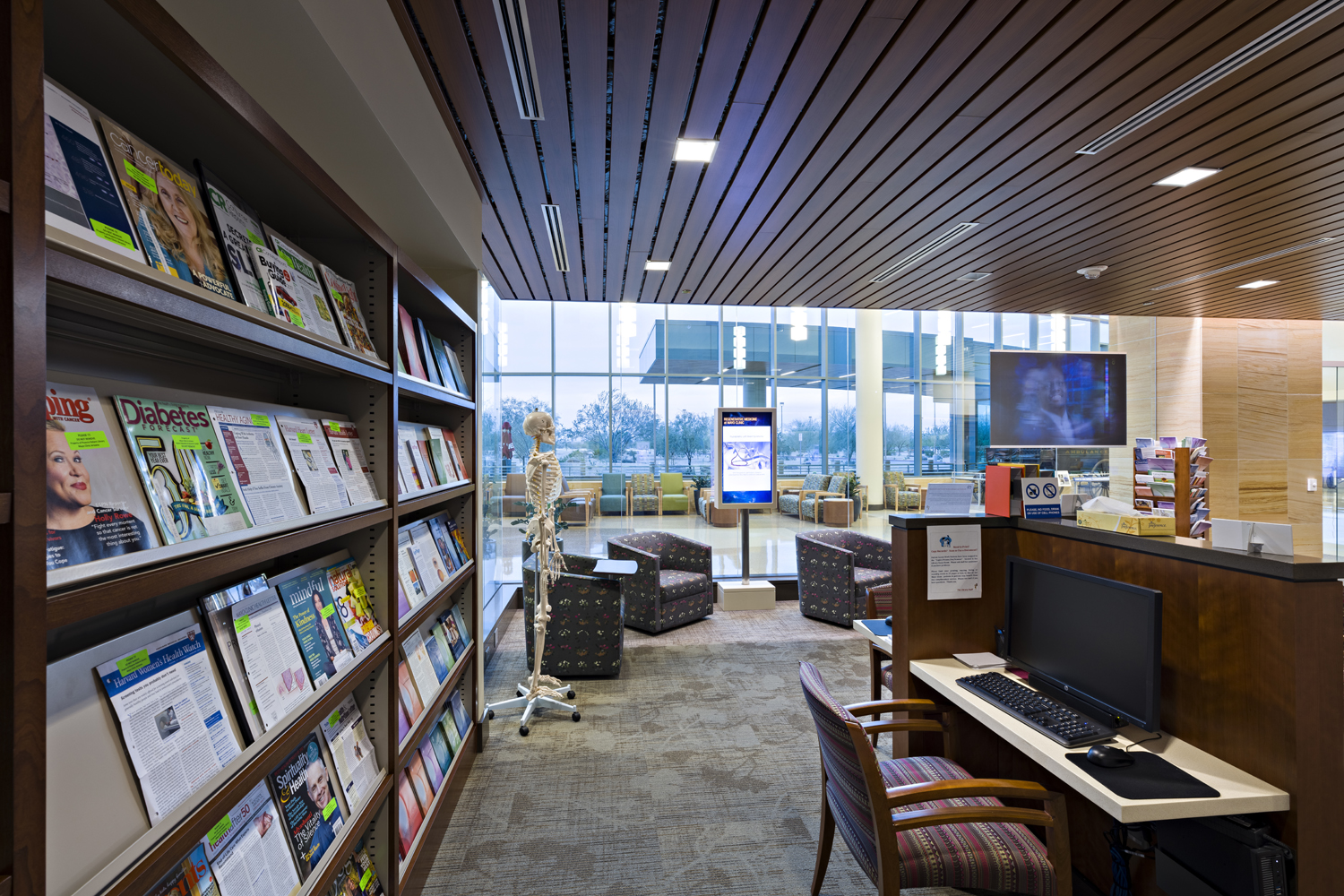 Periodicals in Phoenix Patient Library