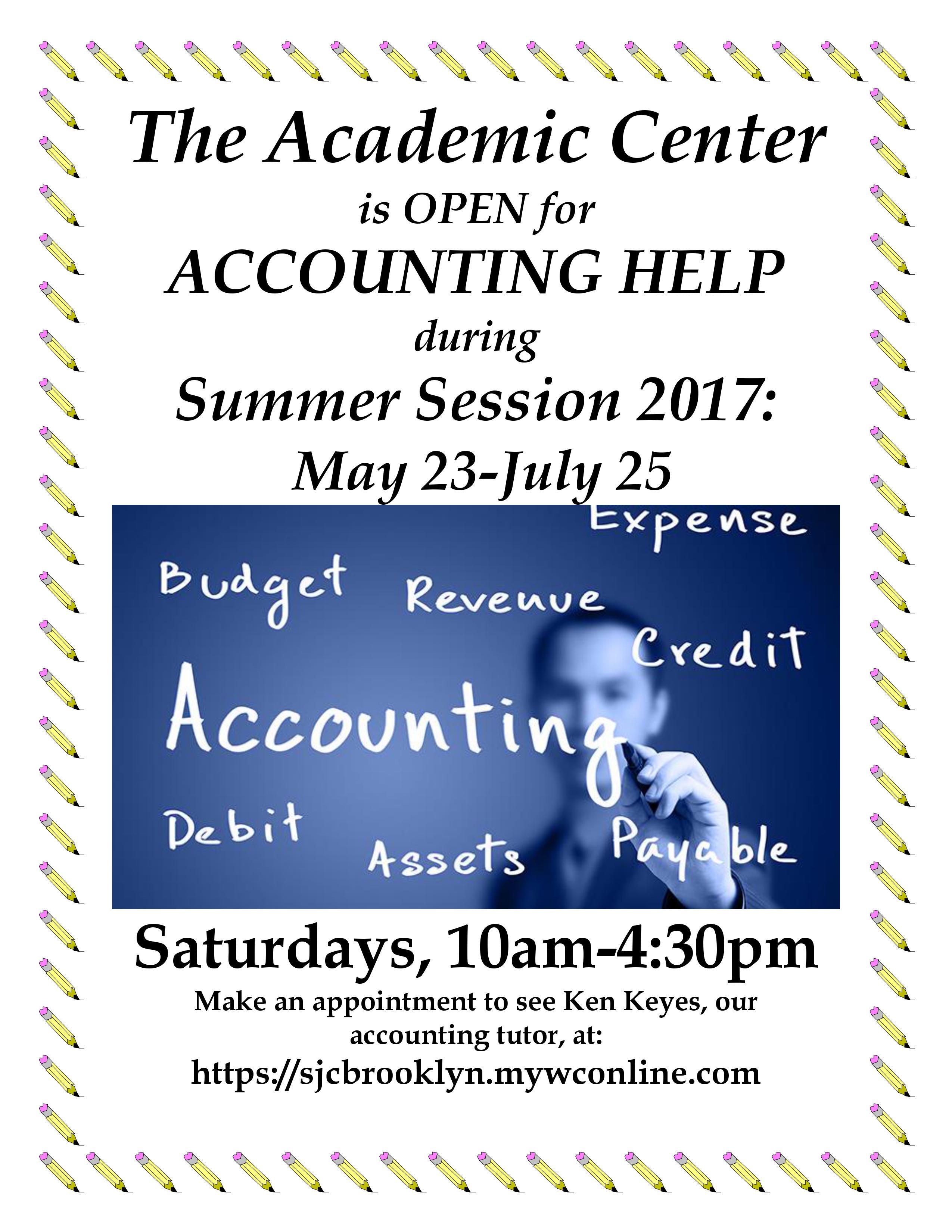ACCOUNTING HELP Summer 2017