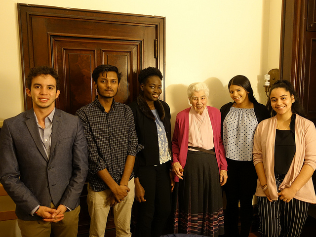 Post-interview group photo_Fall 2018_S. Mary Florence Burns