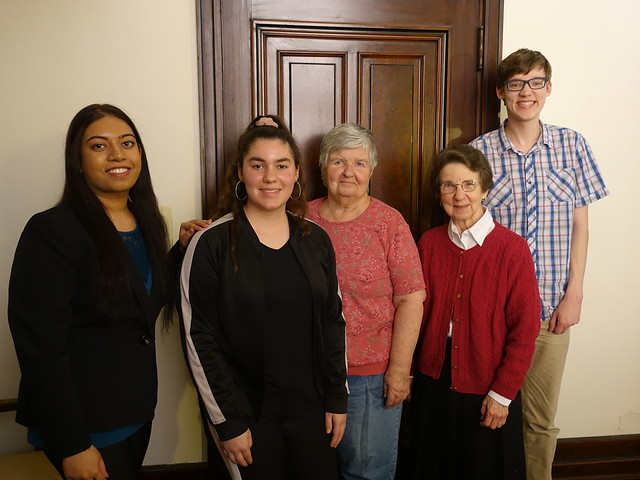 Post-interview group photo_Spring 2019_S. Loretta McGrann & S. Elizabeth Hill