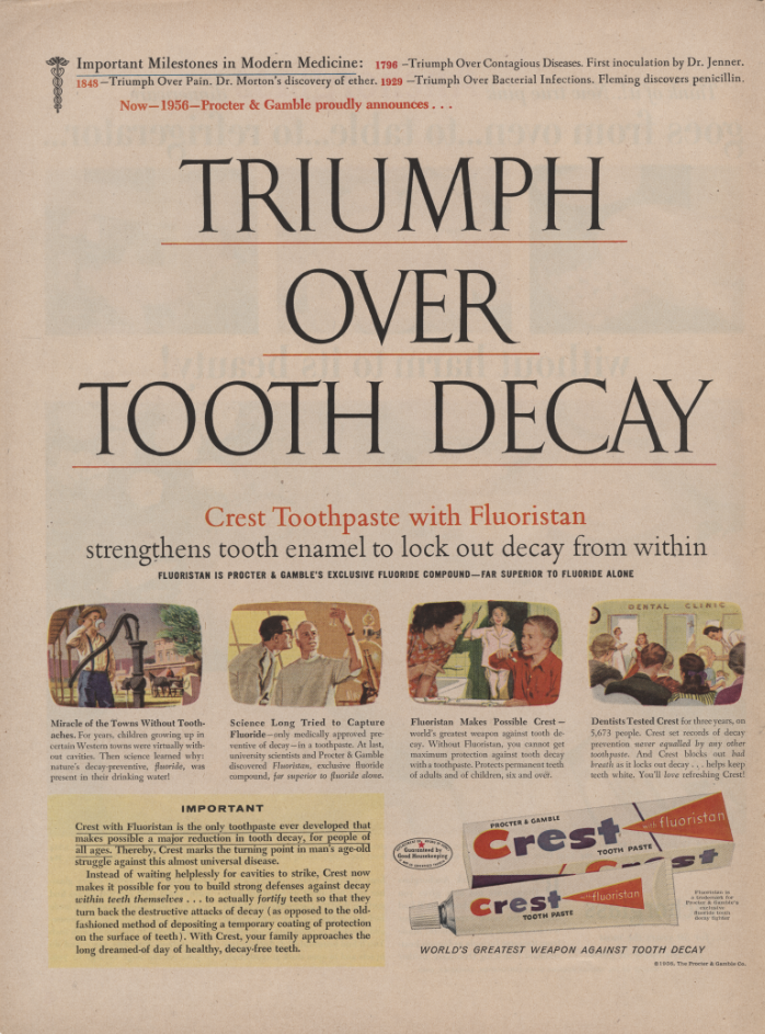 Triumph Over Tooth Decay Advertisement