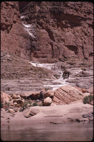 Dry waterfall, mile. 27-29, Colorado River, Grand Canyon. NAU.PH.2004.8.2.26b.49