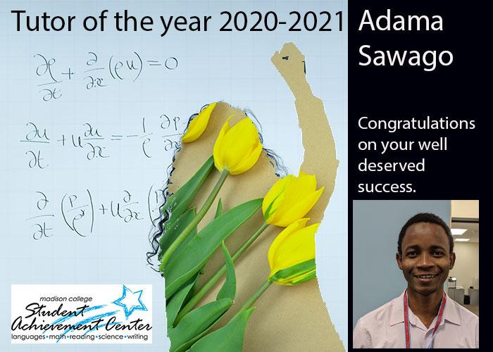 Tutor of the Year Adama