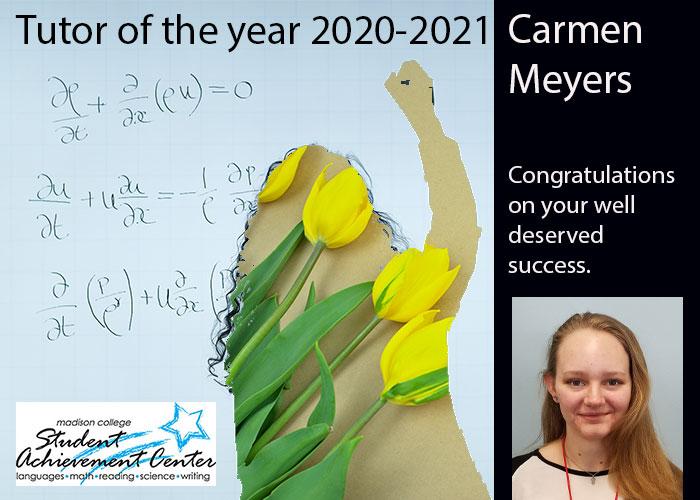 Tutor of the Year Carmen