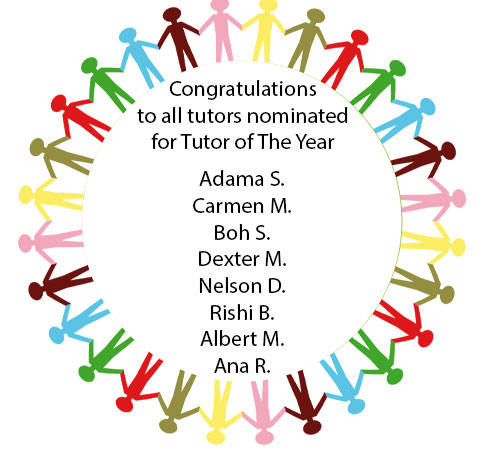 Nominees Tutor of theYear