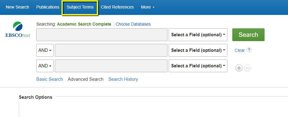 Academic Search Complete - Subject Terms