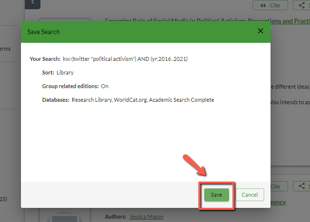 Search details to save
