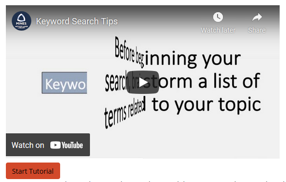screenshot of video and click-through tutorial