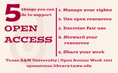 5 things you can do to support open access