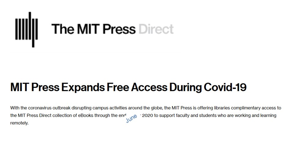 MIT press free access