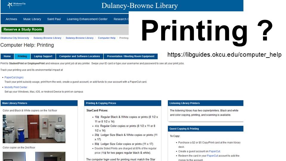 printing help link