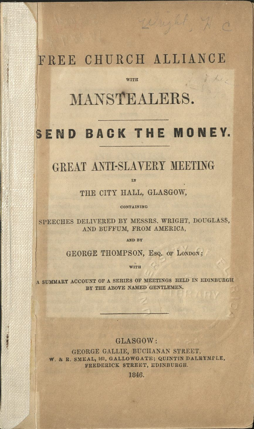 Image of Free Church Alliance with the Manstealers pamphlet
