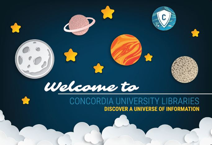 Welcome to a universe of information postcard