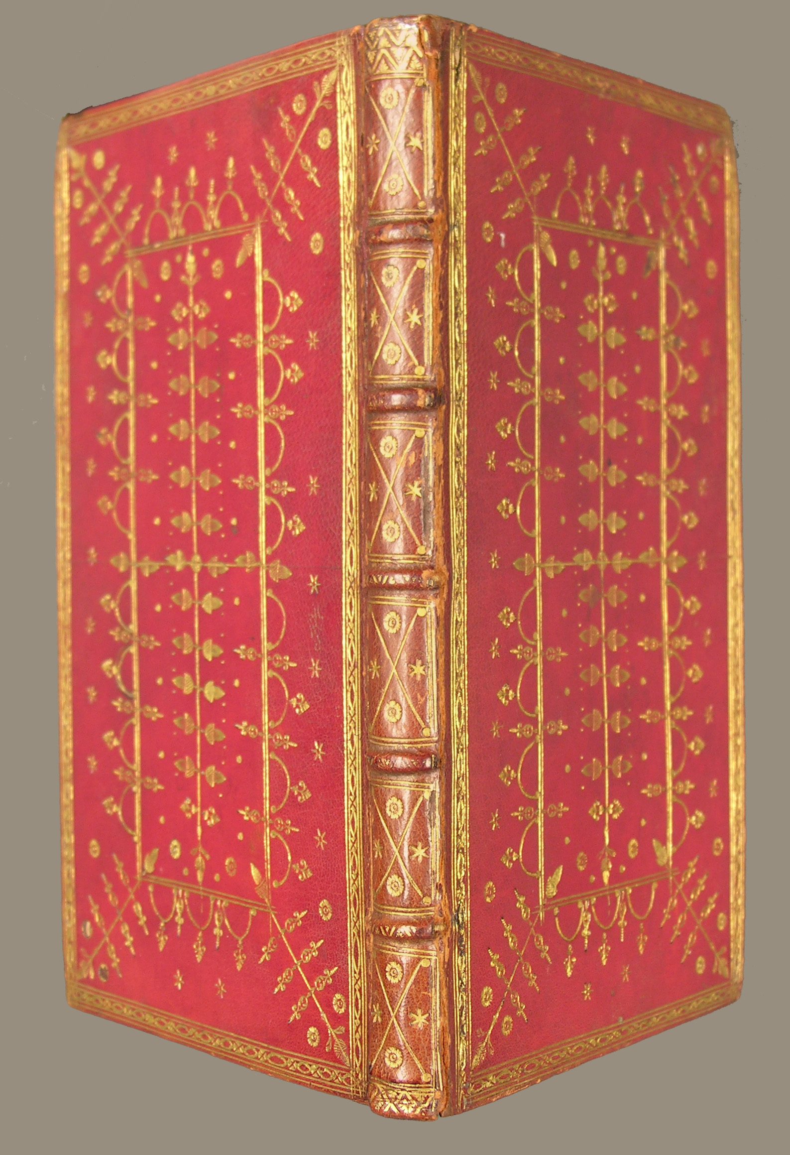 """Binding of """"The Charter and Statutes,"""" printed in 1736 in Williamsburg by William Parks"""