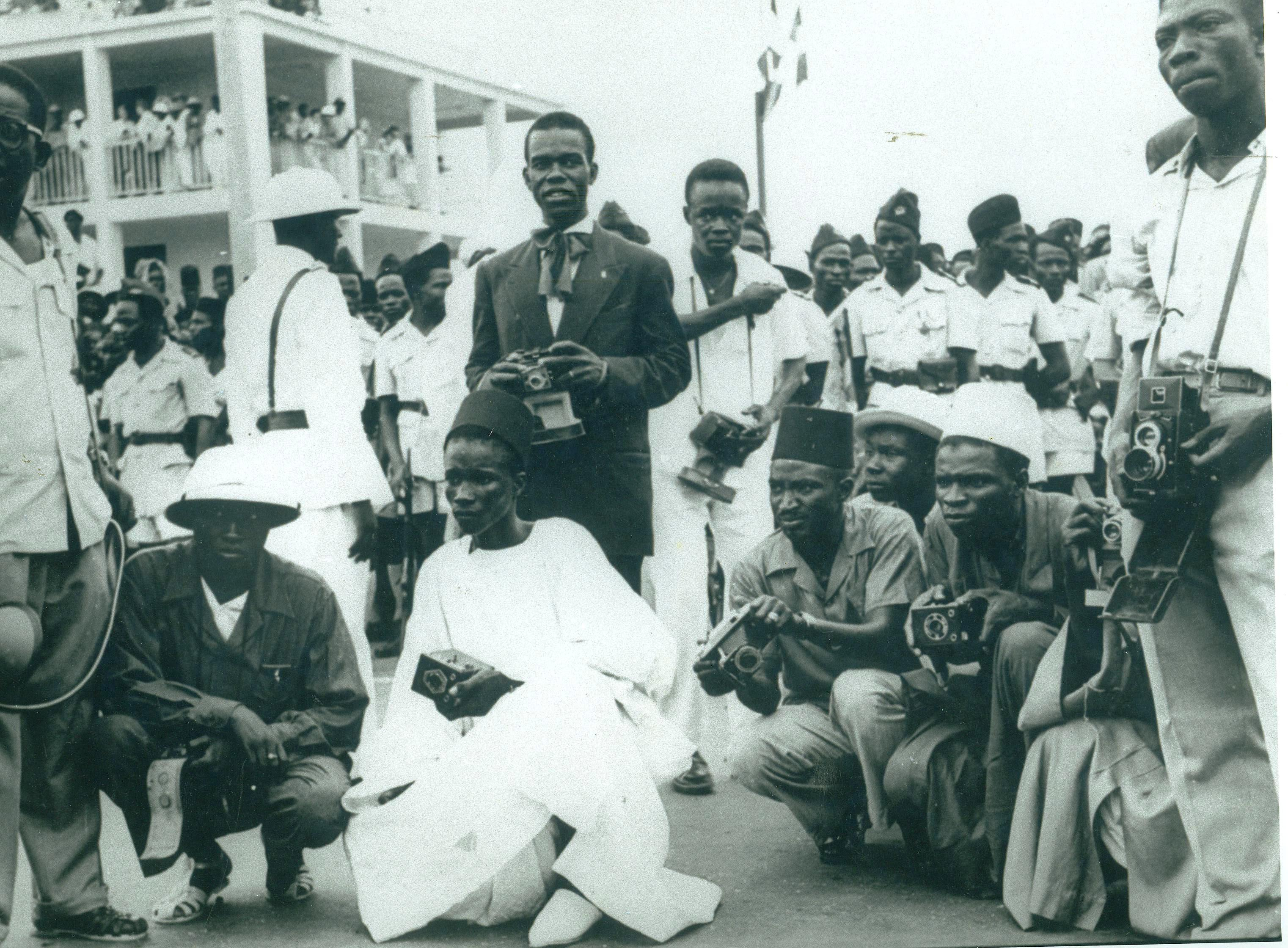 Press photographers, Senegal, 1958.