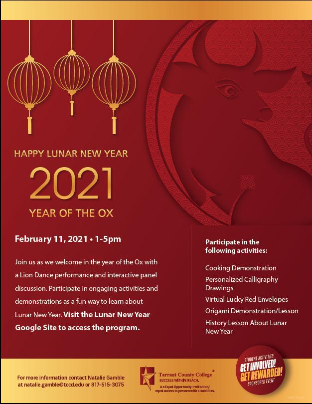 Lunar New Year Event Flyer