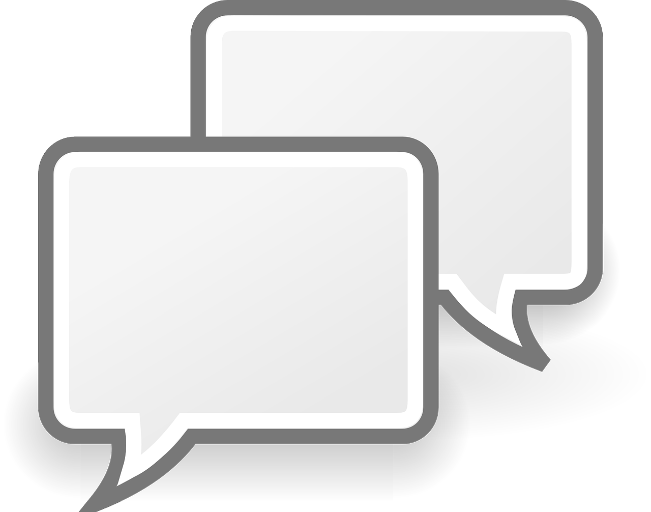 speech bubbles indicating text conversation