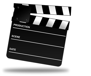 movie director's clap board