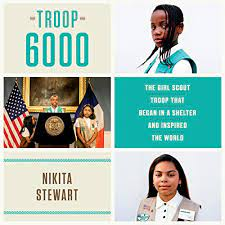 book cover image includes portraits of two young women wearing Girl Scout vests