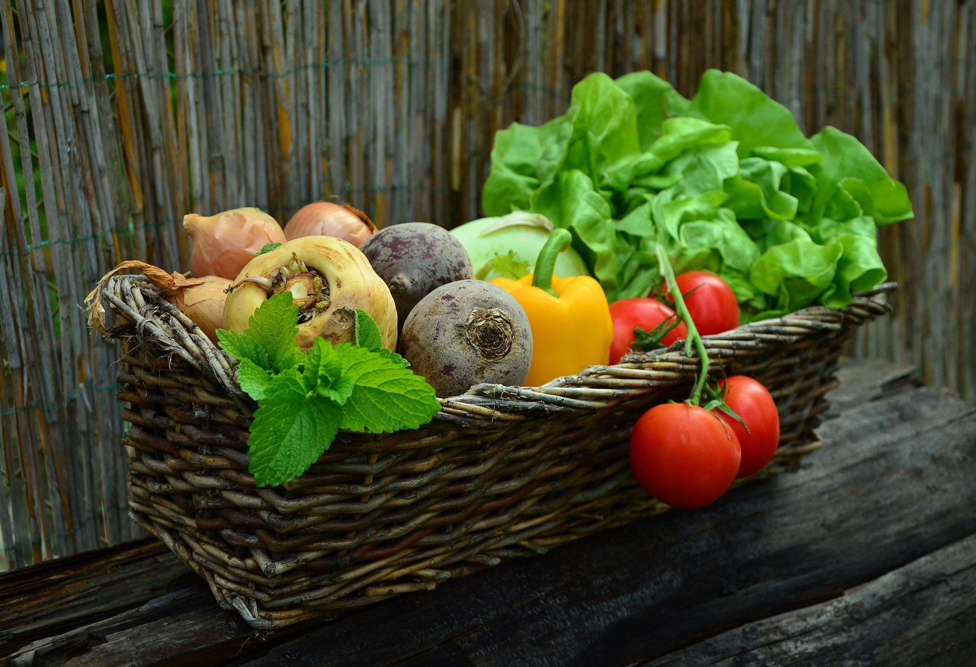 basket of assorted vegetables