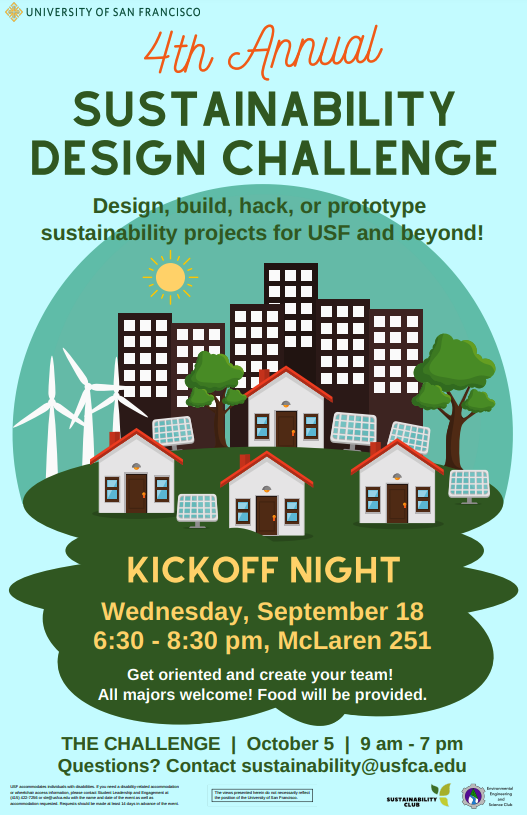 Poster describing the 4th Annual Sustainability Design Challenge