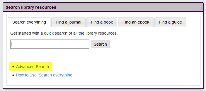 Image of Tabbed Search Box
