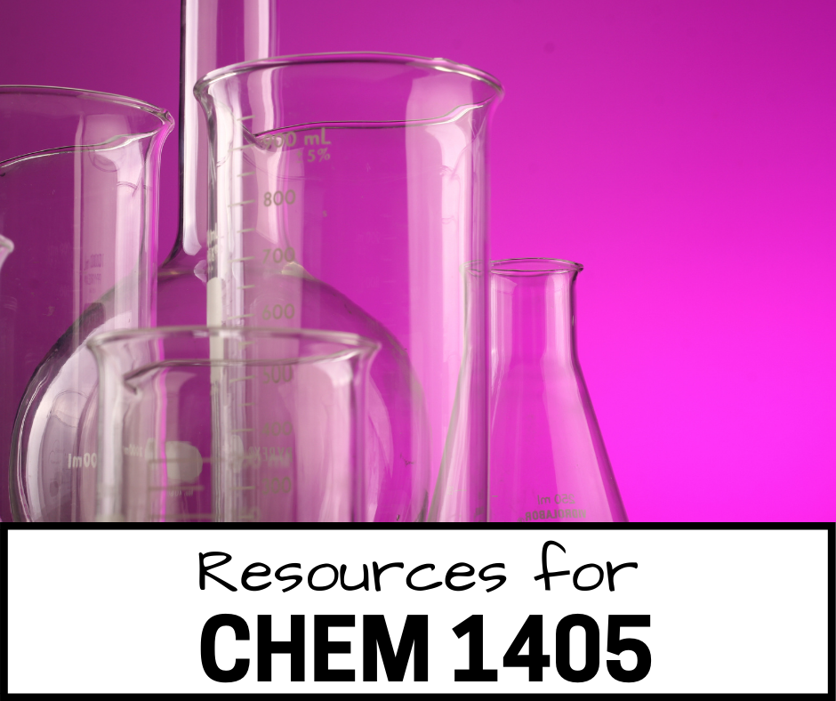 Resources for CHEM 1405