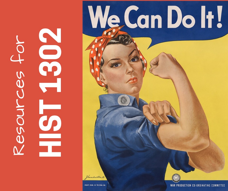 Decorative image with Rosie the Riveter poster