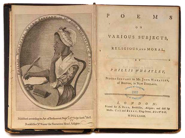 Engraving of Phillis Wheatley from Poems on Various Subjects, Religious and Moral