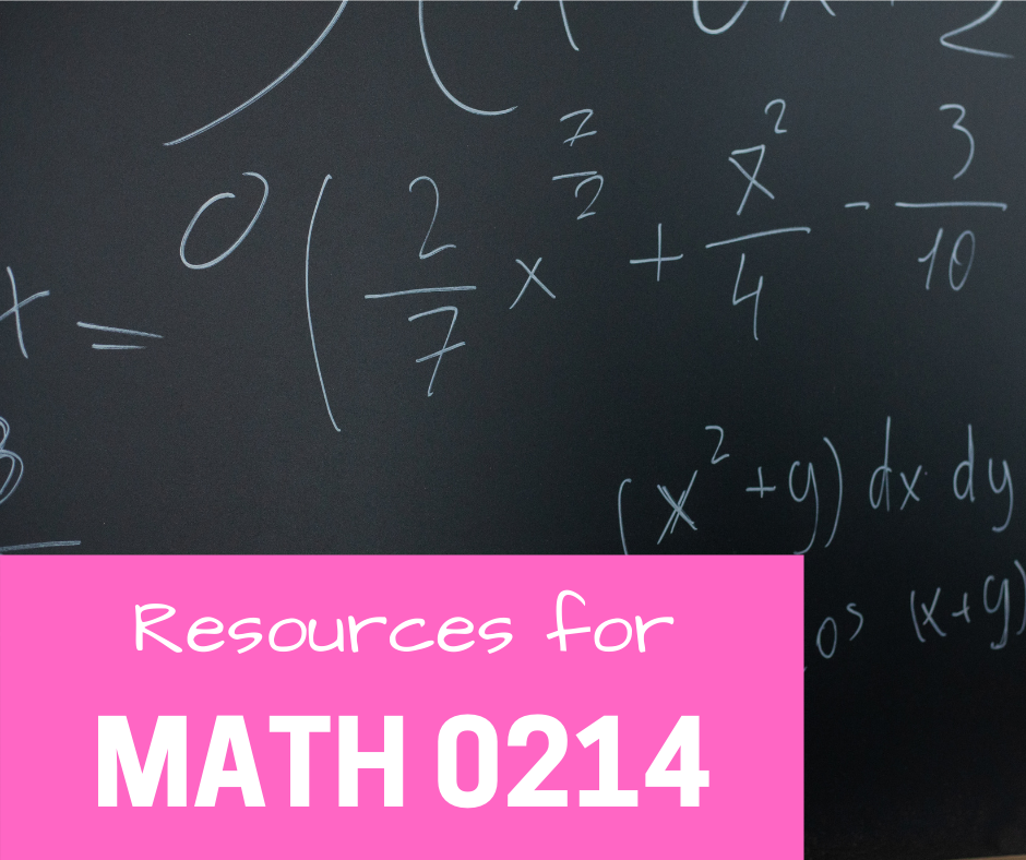 resources for math 0214