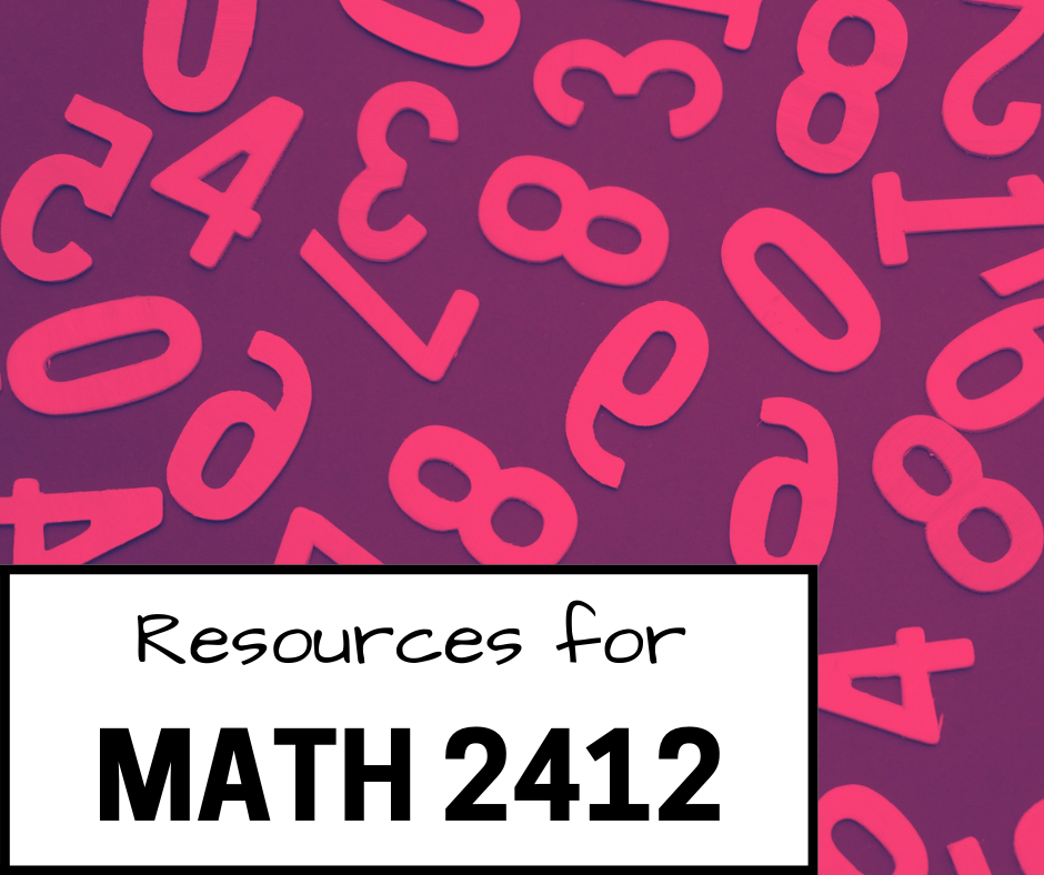 resources for math 2412