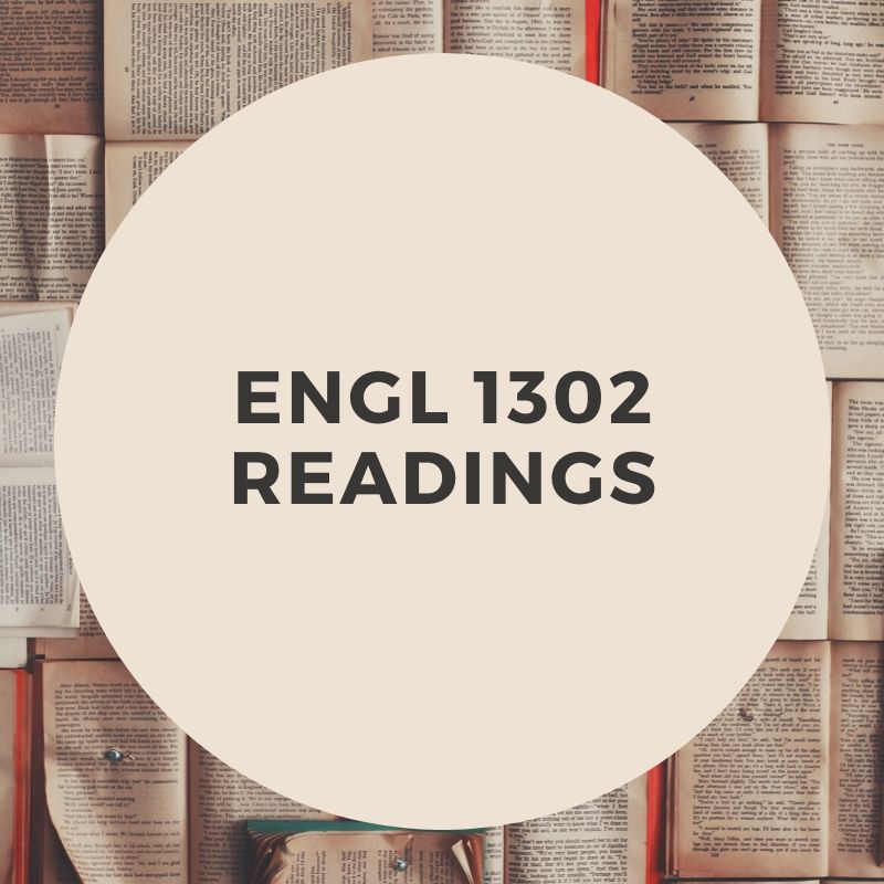 ENGL 1302 Readings