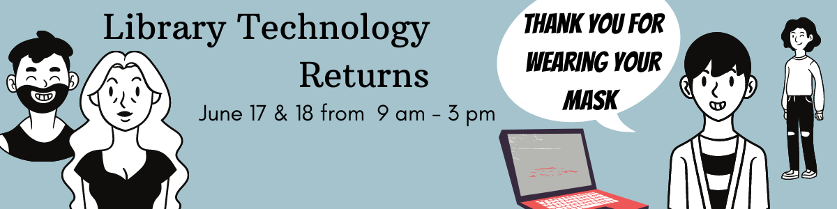 Library returns on June 17 and 18, 9 am to 3 pm