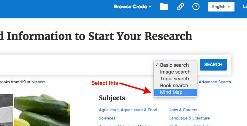 credo search bar menu