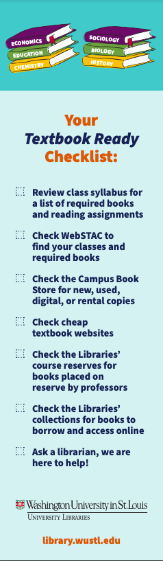 Textbook Ready Checklist