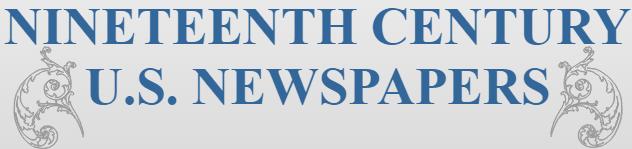 Nineteenth-Century US Newspapers Logo