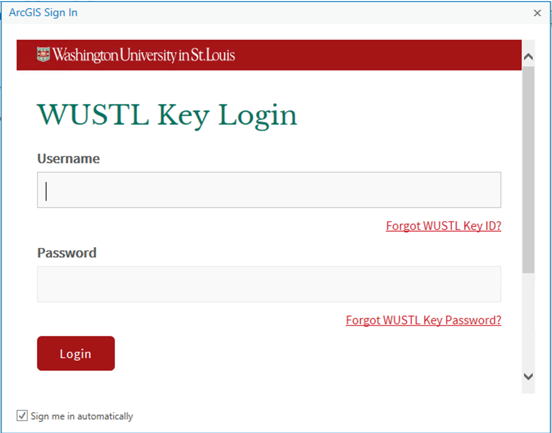 WUSTL Key Login