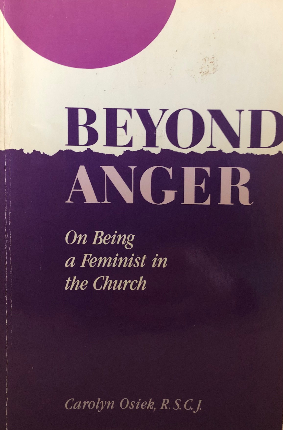 Beyond Anger Book