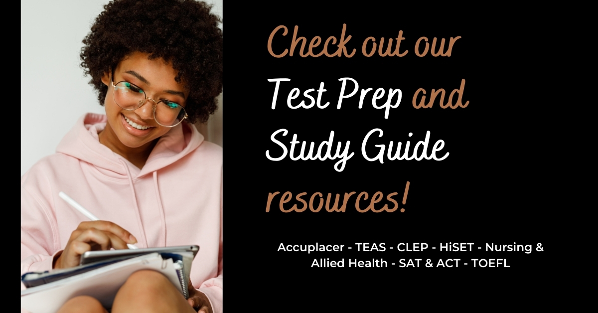 Click here for test preperation resources