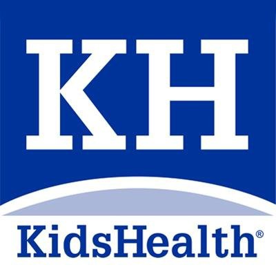 letters K and H above the words Kids Health