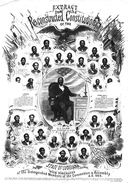 Broadside featuring black delegates 1868