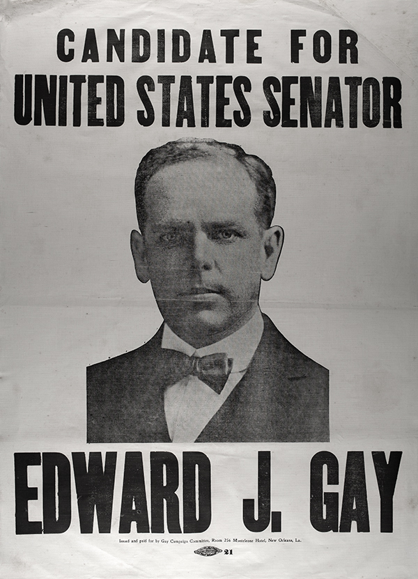 E J Gay III Congressional campaign poster