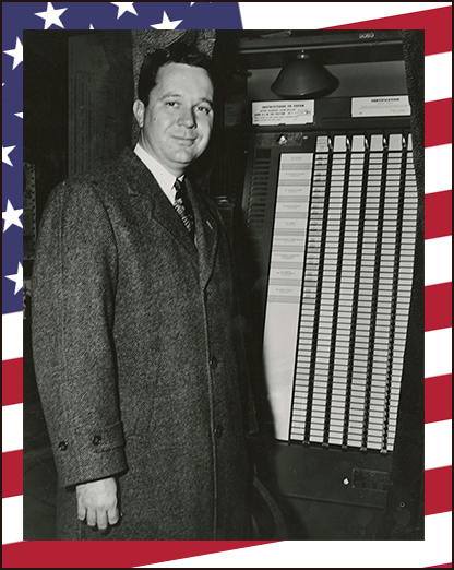 Russell Long in voting booth