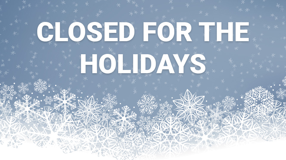 RIC closed for the holidays