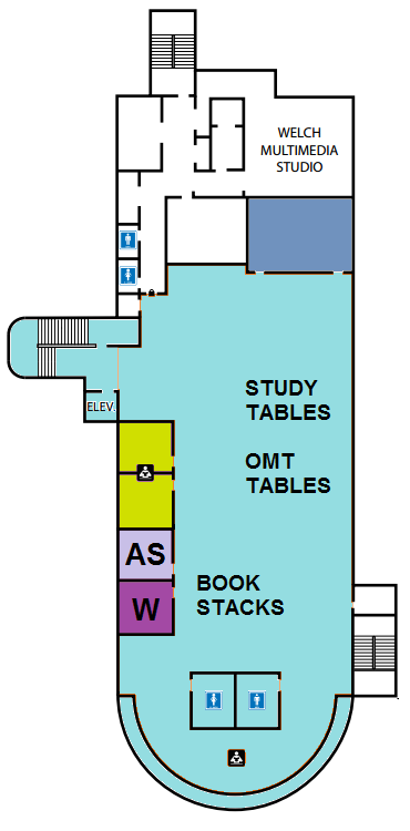 Ground Floor layout of library