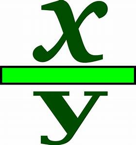 x divided by y