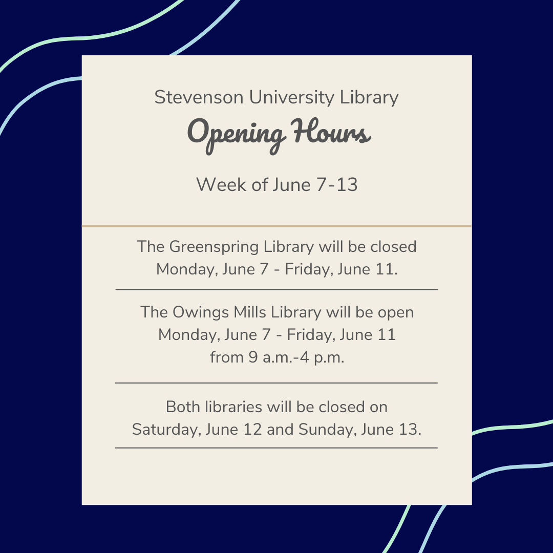 Library hours for June 7-13, 2021
