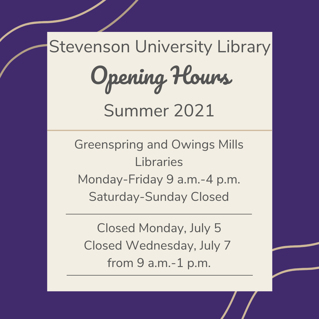 Library hours for summer 2021