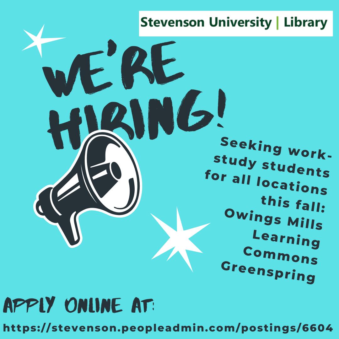 Stevenson University Library is hiring for fall 2021 semester